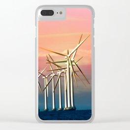 Windmills in Öresund Clear iPhone Case