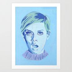 Blue Twiggy Art Print