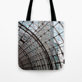 train station of glass in Berlin Tote Bag