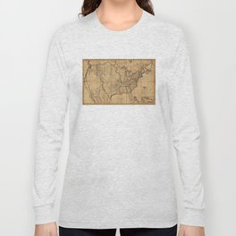 Map of the United States by John Melish (1818) 3rd State Long Sleeve T-shirt