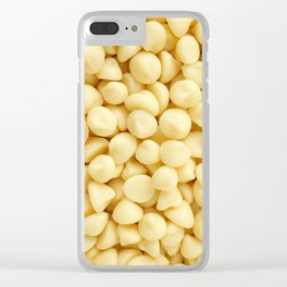 Milky white chocolate chips Clear iPhone Case