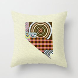 Nevada State Map Throw Pillow