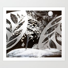 winter abstract Art Print