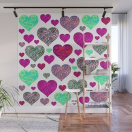 Hearts a Float Wall Mural