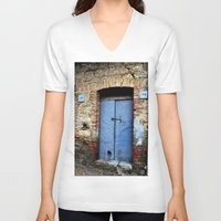 door V-neck T-shirts featuring door by  Agostino Lo Coco