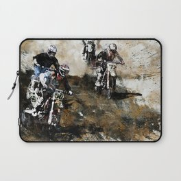 """Dare to Race"" Motocross Dirt-Bike Racers Laptop Sleeve"