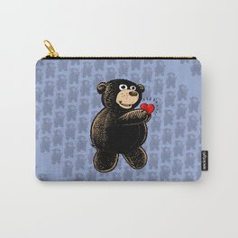 Teddy Bear Holding Heart Carry-All Pouch