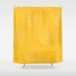 HYPNO - yellow Shower Curtain