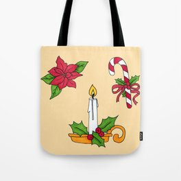 Merry Christmas! (yellow) Tote Bag