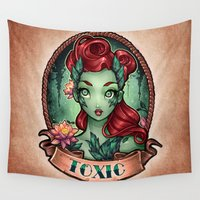pinup Wall Tapestries featuring TOXIC pinup by Tim Shumate