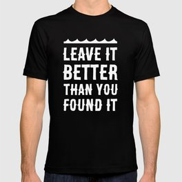 Leave It Better Than You Found It - Ocean Edition T-shirt