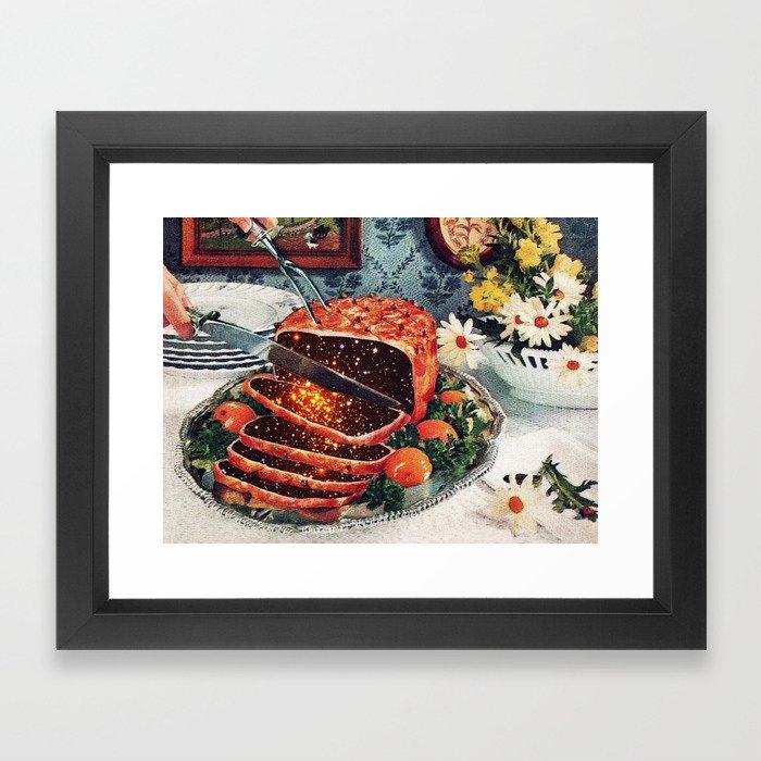 Roast with Mushrooms Framed Art Print