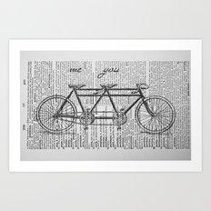 Me & You Tandem Bike Art Print