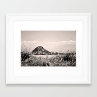 monkey island Framed Art Prints featuring Monkey Island, Southland, New Zealand by the penny drops