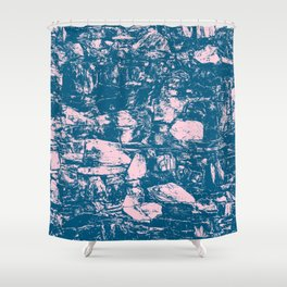 Abstract Pink Blue Shower Curtain
