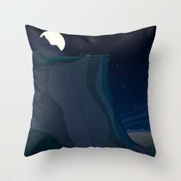 fairy landscape (at night) Throw Pillow