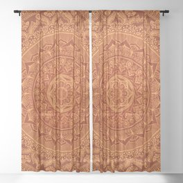 Mandala Spice Sheer Curtain