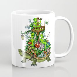 Psychedelic Aliens Space Trip Coffee Mug