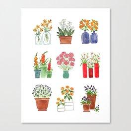 Flower Bouquets Canvas Print