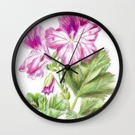 Royal geranium flower Wall Clock