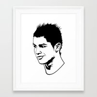 ronaldo Framed Art Prints featuring ronaldo by b & c