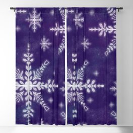 First Snow Flakes Blackout Curtain