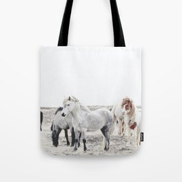 WILD AND FREE  1 - HORSES OF ICELAND Tote Bag