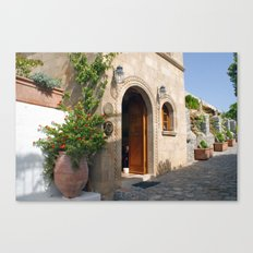 Greek Doorway Canvas Print