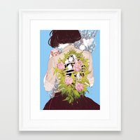 Framed Art Prints featuring Strawberry Milk by Aster Hung (Soap!)