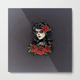 Sugar skull girl Metal Print