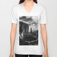 utah V-neck T-shirts featuring Arches National Park, Utah by Eli Maier