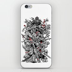 Nuclear Ninja Turtles Black and White iPhone & iPod Skin