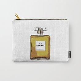 No 5 Perfume Bottle Gold Print Fashion print Fashion Fashionista Gift women Gift Idea Typographic Carry-All Pouch