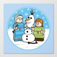 Want to Build a Snowman? Canvas Print