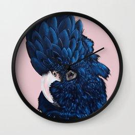 ALVA The Black Cockatoo Wall Clock