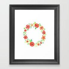 Spring flower wreath Framed Art Print