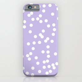 lavender polka dots little iPhone Case