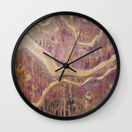 His Banner Over Me is Love Wall Clock