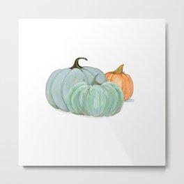 Colorful pumpkin trio Metal Print
