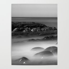 Another Dimension geological formations Bowling Ball Beach Poster