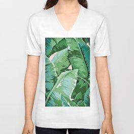 Banana leaf grandeur II Unisex V-Ausschnitt