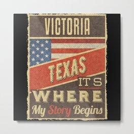 Victoria Texas Metal Print