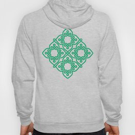 Shamrock Green ribbon Celtic knots Hoody