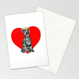 Kitty Heart Stationery Cards