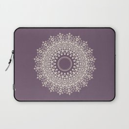 Mandala in Mulberry and White Laptop Sleeve