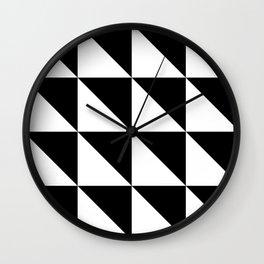 Retro Triangles Wall Clock