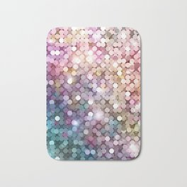 Rainbow glitter texture Bath Mat