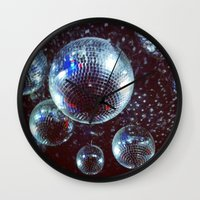 disco Wall Clocks featuring Disco by Elle
