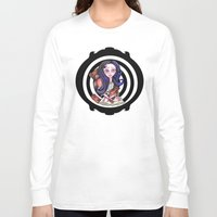 goth Long Sleeve T-shirts featuring Viola  goth by Silviacat