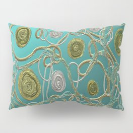 GOLD & SILVER ABSTRACT Pillow Sham